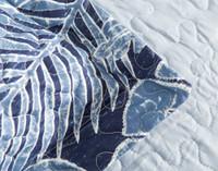 Close up of flange on Anup Coverlet Set.