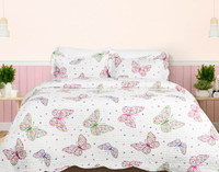 Mari Coverlet Set, main side with butterfly print