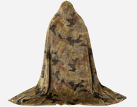 Back view of Camouflage Cape Throw.