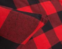 Danner Flannel Duvet Cover Set Pillow Sham Corner in Red and Black Plaid