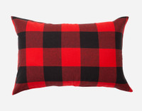 Danner Flannel Duvet Cover Set Pillow Sham in Red and Black Plaid