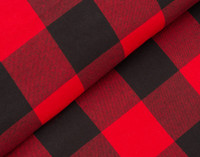 Danner Flannel Duvet Cover Set in Red and Black Plaid top fold