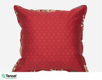 Stratford Euro Sham features a bold red trellis print.