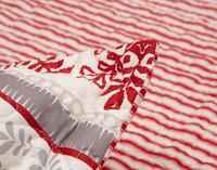 Close up of Prancer Pillow Sham flanges.