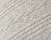 Close up of cable knit pattern on Estevan Duvet Cover.