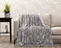 Diamond Etch Throw in Silver
