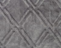 Close up of pattern on Diamond Etch Throw in Silver