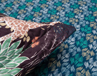 "Detail image of flange on Grasslands Pillow Sham. Flanges are approximately 1""."