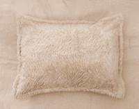 The Faux Rabbit Plush Pillow Sham.
