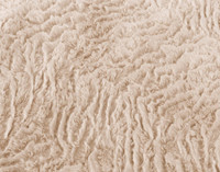 Close up of Faux Rabbit Plush texture in Blush, a pale pink.