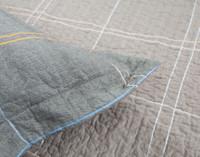 Close up of flange on Roma Cotton Pillow Sham.