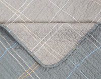 Detail view of seams on Roma Cotton Quilt Set.