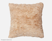 Carved Faux Fur Euro Sham in Caramel, a medium beige with orange undertones