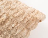 Carved Faux Fur Euro Sham - Caramel