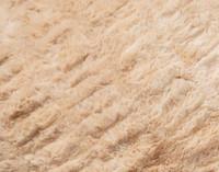 Carved Faux Fur Euro Sham in Caramel, a medium beige with orange undertones, texture close-up