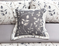 Brentwood Square Cushion Cover features varying shades of grey.