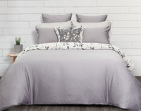 Brentwood Duvet Cover reverse in soft grey blue