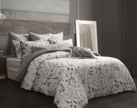 Brentwood Duvet Cover styled with grey accessories
