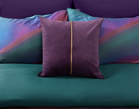 Chroma Square Cushion Cover pictured on reverse of duvet cover.