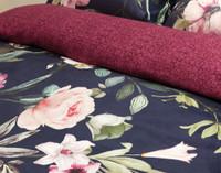 Close up of pattern on Monika Duvet Cover.