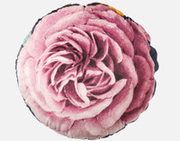 Monika Round Cushion features a single bloom in magenta.