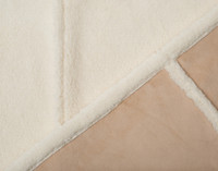 Side by side view of front and reverse of Windowpane Shearling Comforter Set.