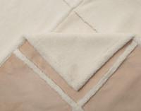 Detailed view of Windowpane Shearling Comforter Set.