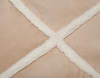 Close up of pattern on Windowpane Shearling Comforter Set.