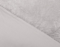 Close up of front of Corduroy Duvet Cover Set in Silver.
