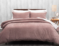 Corduroy Duvet Cover Set in Shadow Rose.
