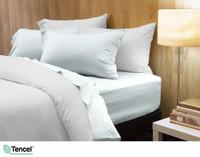 300TC TENCEL™ Lyocell Blend Sheet Set in Surf, a light blue green colour