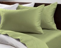 Cotton Rich Sheet Sets pictured in Meadow Green.