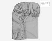 Elastic fitting on Supima® Cotton Sheet Sets in Platinum Grey.