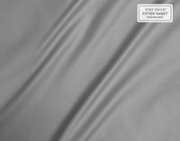 Close of of sheen on Supima® Cotton Sheet Sets in Platinum Grey.