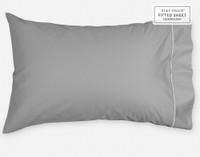 Supima® Cotton Pillowcase in Platinum Grey.