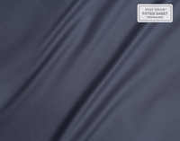 Close of of sheen on Supima® Cotton Sheet Sets in Sapphire Blue.