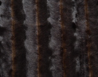 Faux Fur Throw in Wolverine texture close-up