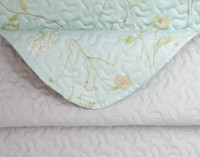 Sewing detail of the Rivulet Coverlet Set.