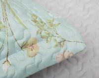 Close up of flange on Rivulet Coverlet Set.
