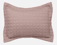 Ringo Pillowsham in Woodrose, a deep blush pink colour.