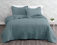 Ringo Coverlet Set in Tidewater, a blue green, teal colour.