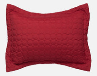 Ringo Pillow Sham in Ruby red.
