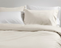 Bamboo Cotton Pillowcases in Driftwood.