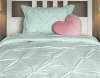 Aqua Stars Comforter Set in a soft shade of blue.