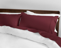Sateen Cotton 500TC California King Sheet Set in Beaujolais Red