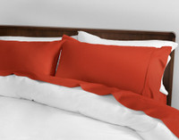 500TC Cotton Sateen California King Sheet Set - Cayenne