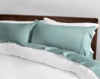 Sateen Cotton 500TC California King Sheet Set in Hydra Green