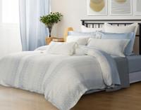Mimeo Duvet Cover in a beige bedroom.