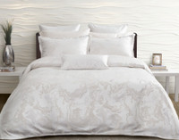 Travertine Duvet Cover Set features the Travertine stone jacquard and are finished with a 1-inch flange.