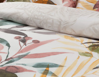 Close up of pattern on Mahana Duvet Cover.